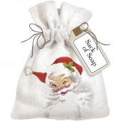 Winking Santa Sack of Soap