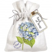 Botanical Hydrangea Sack Of Soap