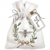 Bee Olive Wreath Sack Of Soap
