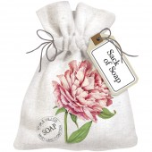 Botanical Peony Sack Of Soap