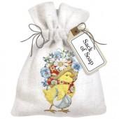 Chick Flower Bonnet Sack Of Soap