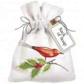 Bird Ornament Sack Of Soap