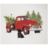 Holiday Truck Sponge Cloth