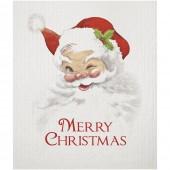 Santa Winking Sponge Cloth