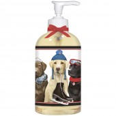 Winter Dog Friends Liquid Soap