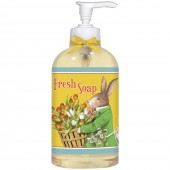 Rabbit with Tulip Basket Liquid Soap