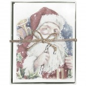 Santa Candy Cane Boxed Greeting Cards