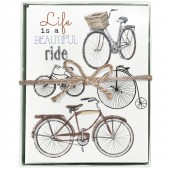 Bike Collage Boxed Greeting Card S/8
