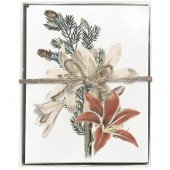 Amaryllis White Greeting Cards S/8