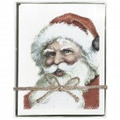 Santa Greeting Cards S/8