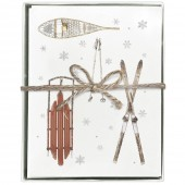 Ski-Sled Boxed Greeting Card