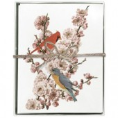 Pink Blossom Bird Boxed Greeting Cards