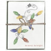 Christmas Lights Greeting Cards Set