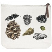Pinecones Canvas Pouch