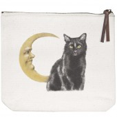 Cat Moon Canvas Pouch
