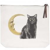 Cat Moon Canvas Pouch