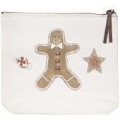 Gingerbread Canvas Pouch