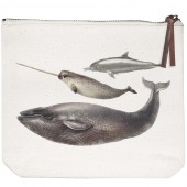 Sea Mammals Canvas Pouch