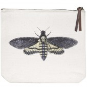 Owl Spider Moth Canvas Pouch