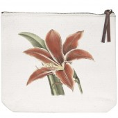 Amaryllis Canvas Pouch
