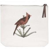 Pine Tree Bird Canvas Pouch