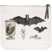 Bat Collage Canvas Pouch