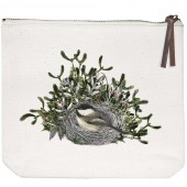 Chickadee Nest Canvas Pouch