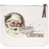 Jolly Santa Canvas Pouch