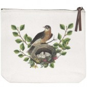 Robins Nest Canvas Pouch