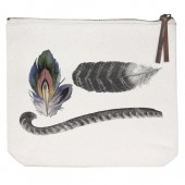 Feathers Canvas Pouch