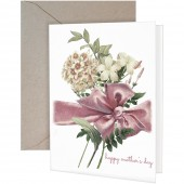 Pink Bow Greeting Card