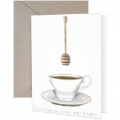 Tea & Honey Greeting Card