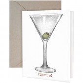 Martini Glass Greeting Card