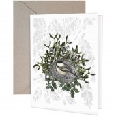 Chickadee Nest Greeting Card