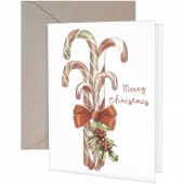 Candy Cane Bunch Greeting Card