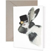 Bunny Hat Greeting Card-Blank