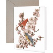 Pink Blossom Bird Greeting Card
