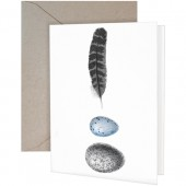 Egg & Feather Greeting Card