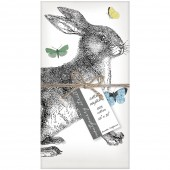 Rabbit & Butterflies Set of 4 Napkins