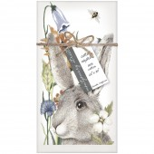 Rabbit Flowers Napkins S/4