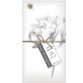 Flower with Bee Set of 4 Napkins