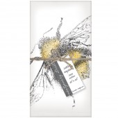 Fuzzy Bee Set of 4 Napkins