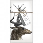 Deer Antlers Set of 4 Napkins