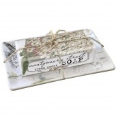 Hydrangea/ Orchid Soap Dish Set