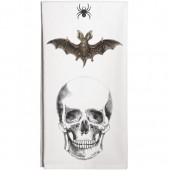 Spider Bat Skull Towel