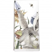 Rabbit Flowers Towel