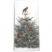 Pine Tree Birds Towel