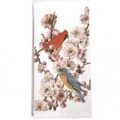 Pink Blossom Bird Towel
