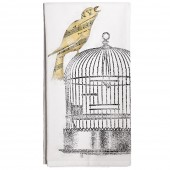 Bird On Cage Towel