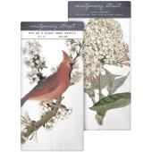 Cherry Cardinal/ Hydrangea Towel Set
